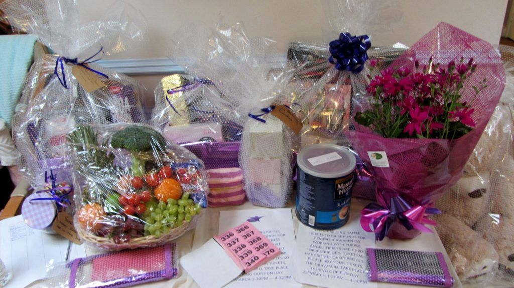 Raffle to raise funds for dementia awareness working with Purple Angel