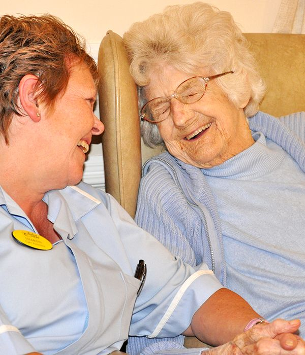 Care Assistant Sharon & Resident